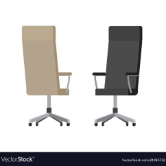Chair On Wheels Pad Covers Leather Office Chairs With High Backs Vector Image
