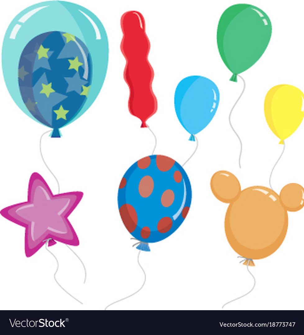 cute cartoon balloon shapes