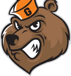 grizzly bear head mascot vector image [ 849 x 1080 Pixel ]