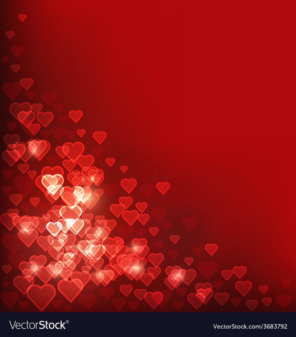 abstract heart bokeh red