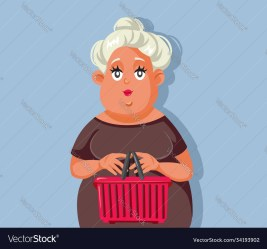 Cartoon Middle Age Woman Standing Vector Images 43