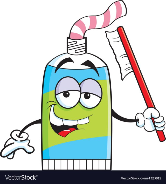 Cartoon Tube Of Toothpaste Vector Image
