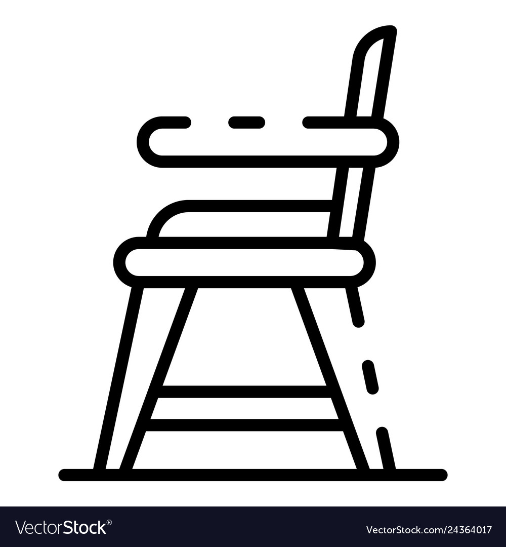 Baby Food Chair Baby Food Chair Icon Outline Style