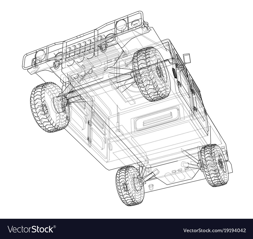 hight resolution of combat car rendering of 3d vector image