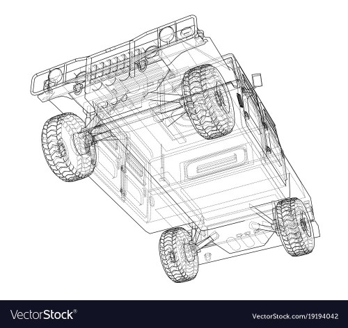 small resolution of combat car rendering of 3d vector image