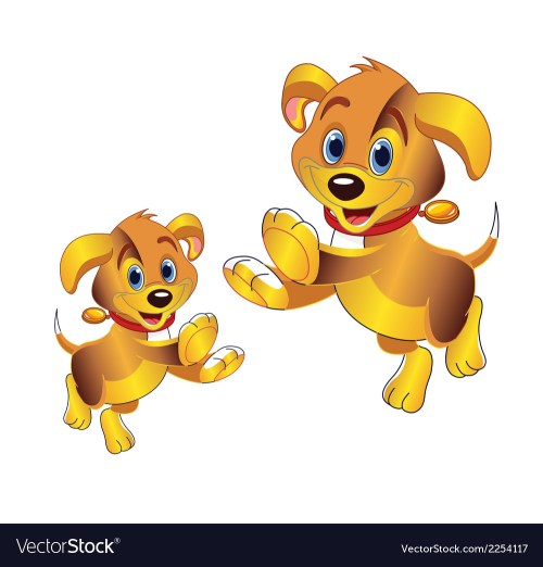 small resolution of 3d cartoon dog clipart vector image