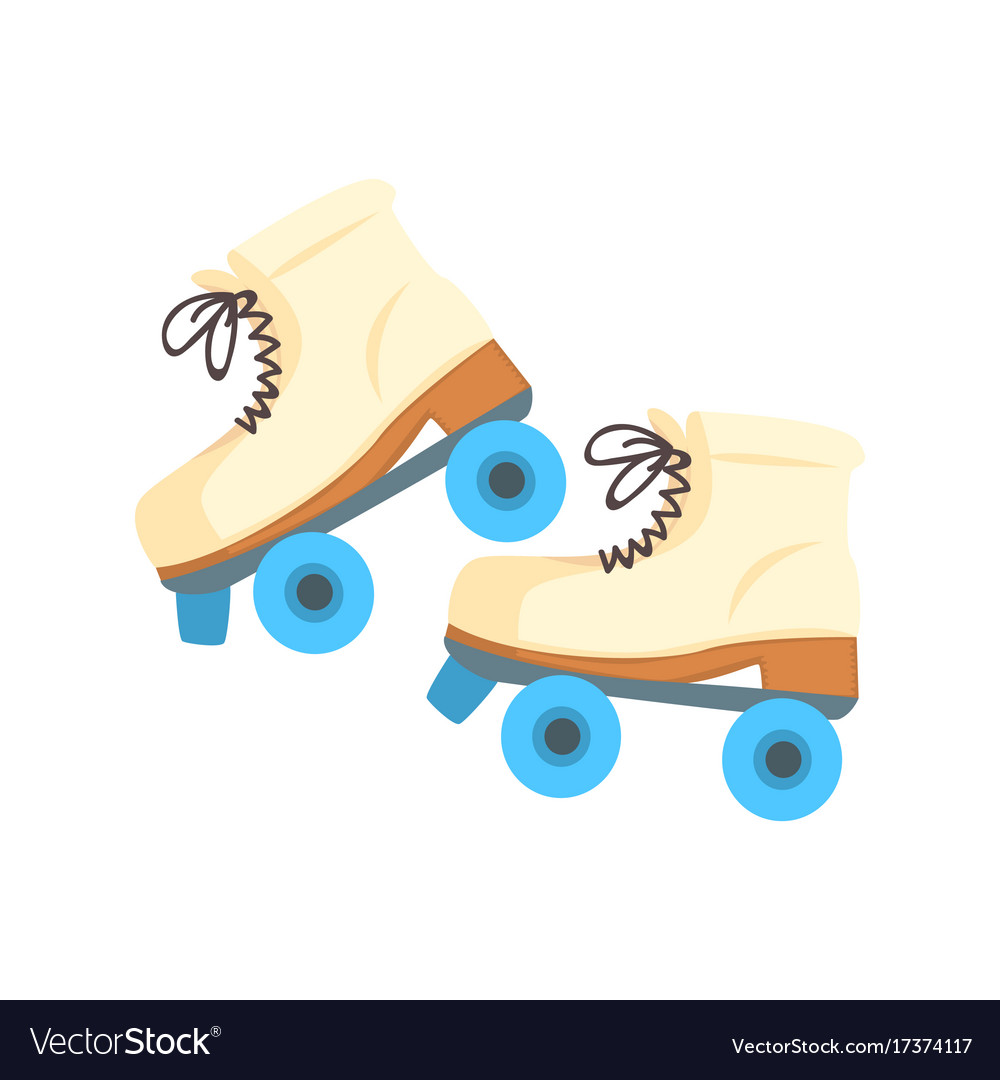 white roller blades with