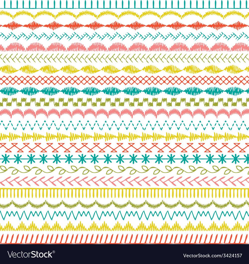 sewing stitch border patterns