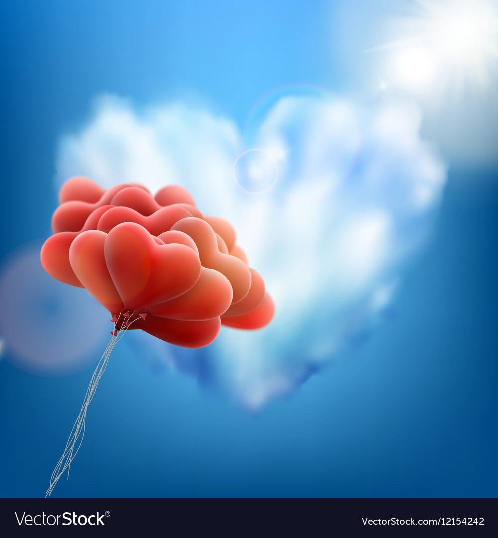 retro love balloons on