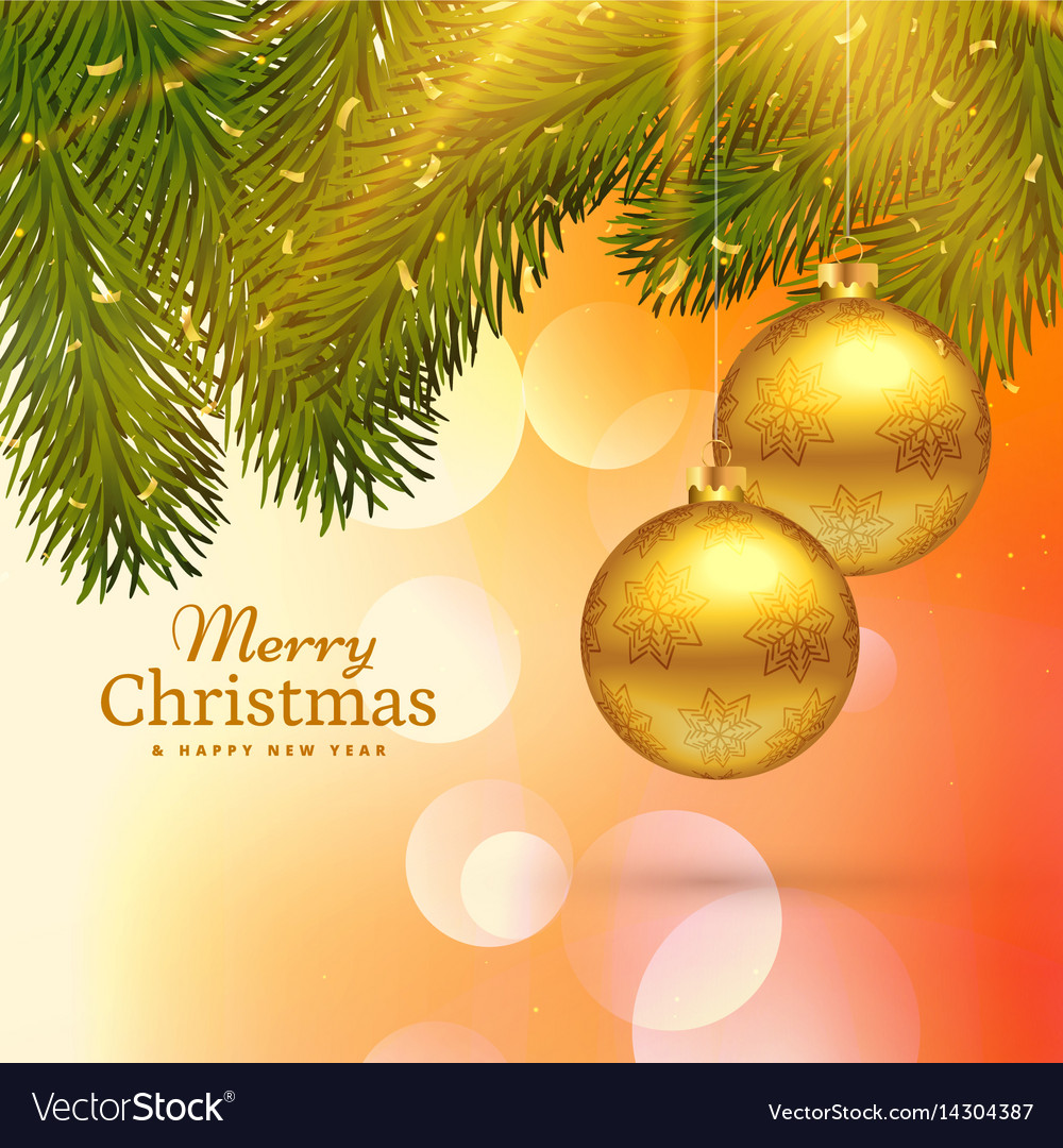 The images are high quality in the true sense & Beautiful merry christmas greeting card design Vector Image