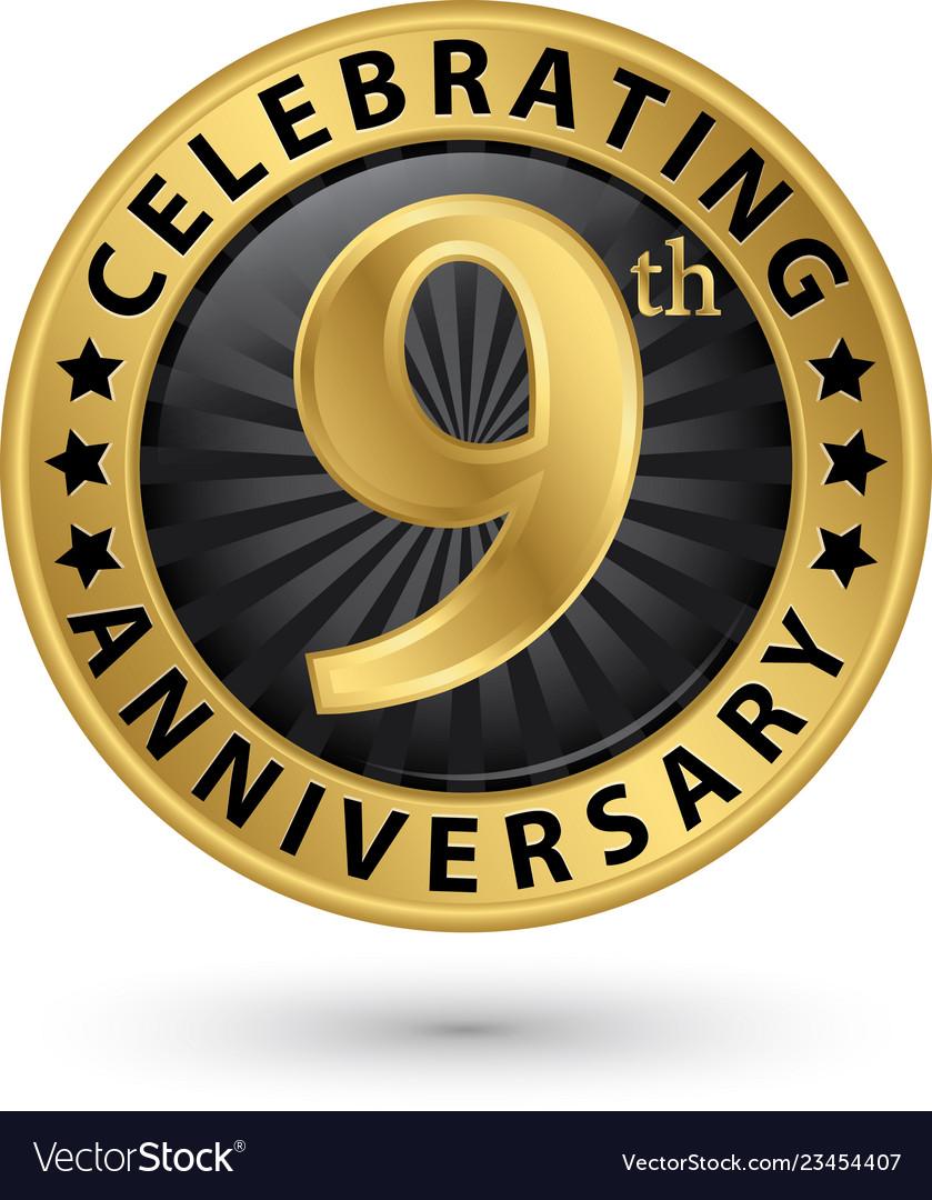 9 Year Anniversary Symbol : anniversary, symbol, Celebrating, Anniversary, Label, Royalty, Vector