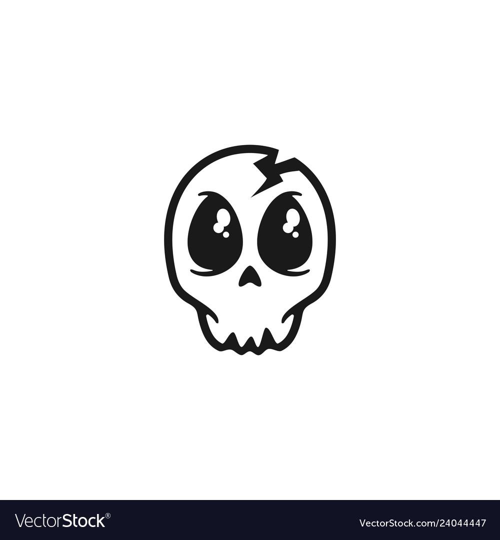 cute skull logo design