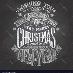 Christmas Wishes Hand Lettering With Chalk Vector Image