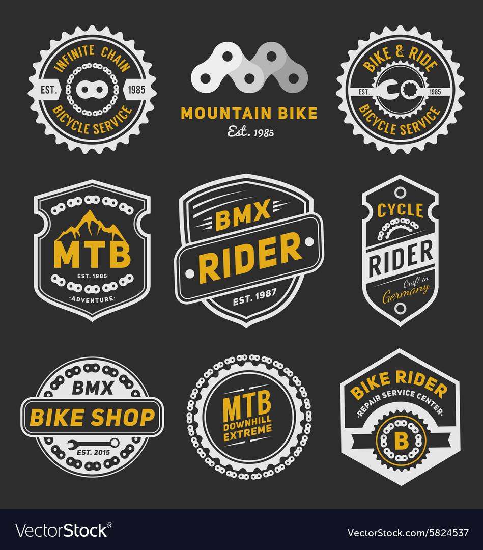 set of bicycle badge
