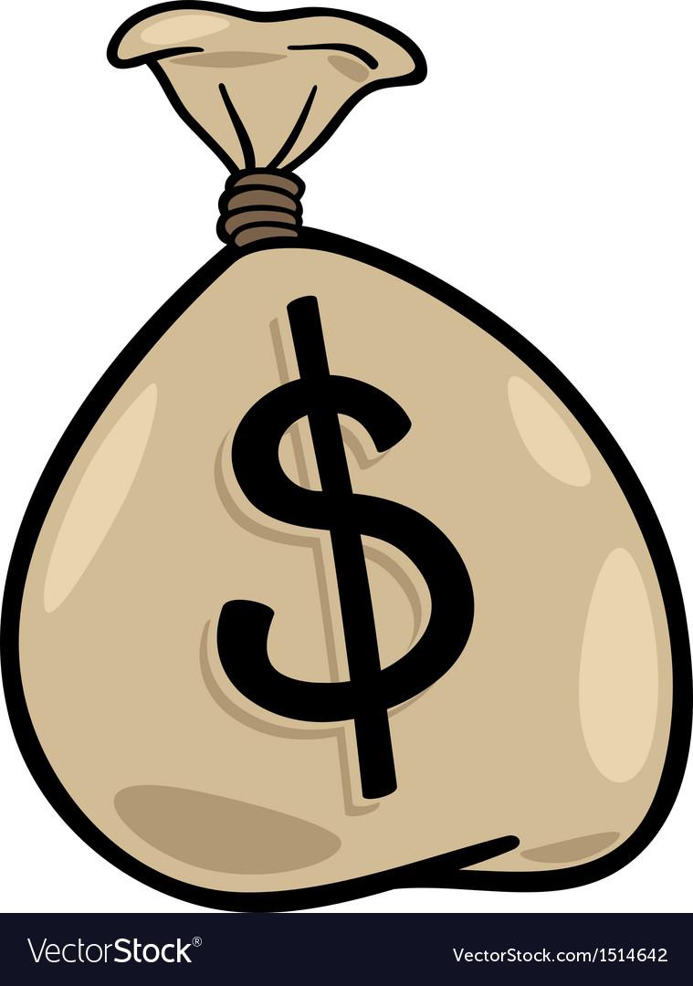 medium resolution of sack of dollars clip art cartoon vector image