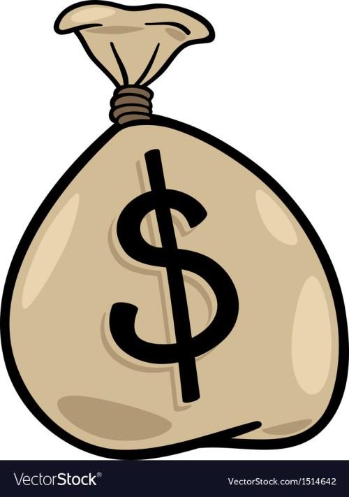 small resolution of sack of dollars clip art cartoon vector image