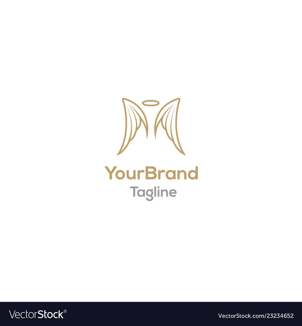 angel wing logo template