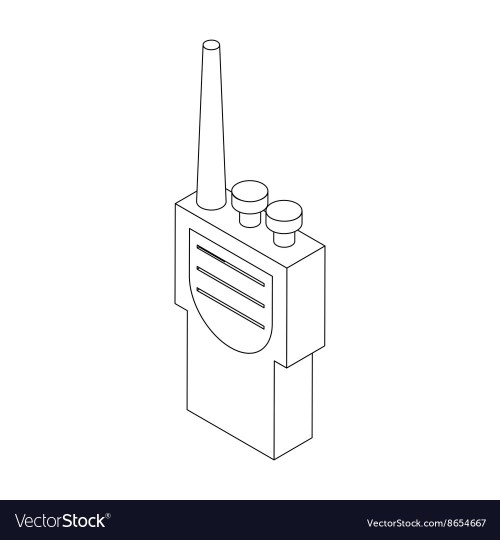 small resolution of portable handheld radio icon in isometric 3d style vector image