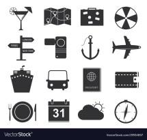 York Travel Icons