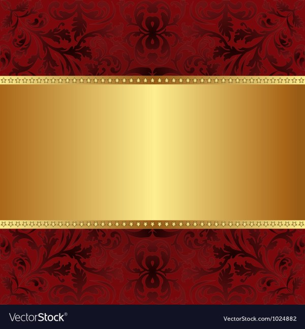 Red Gold Background Royalty Free Vector - Vectorstock