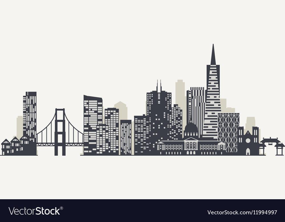 san francisco skyline silhouette