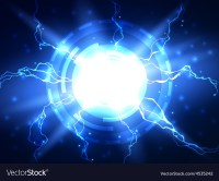 Abstract blue lightning science background Vector Image