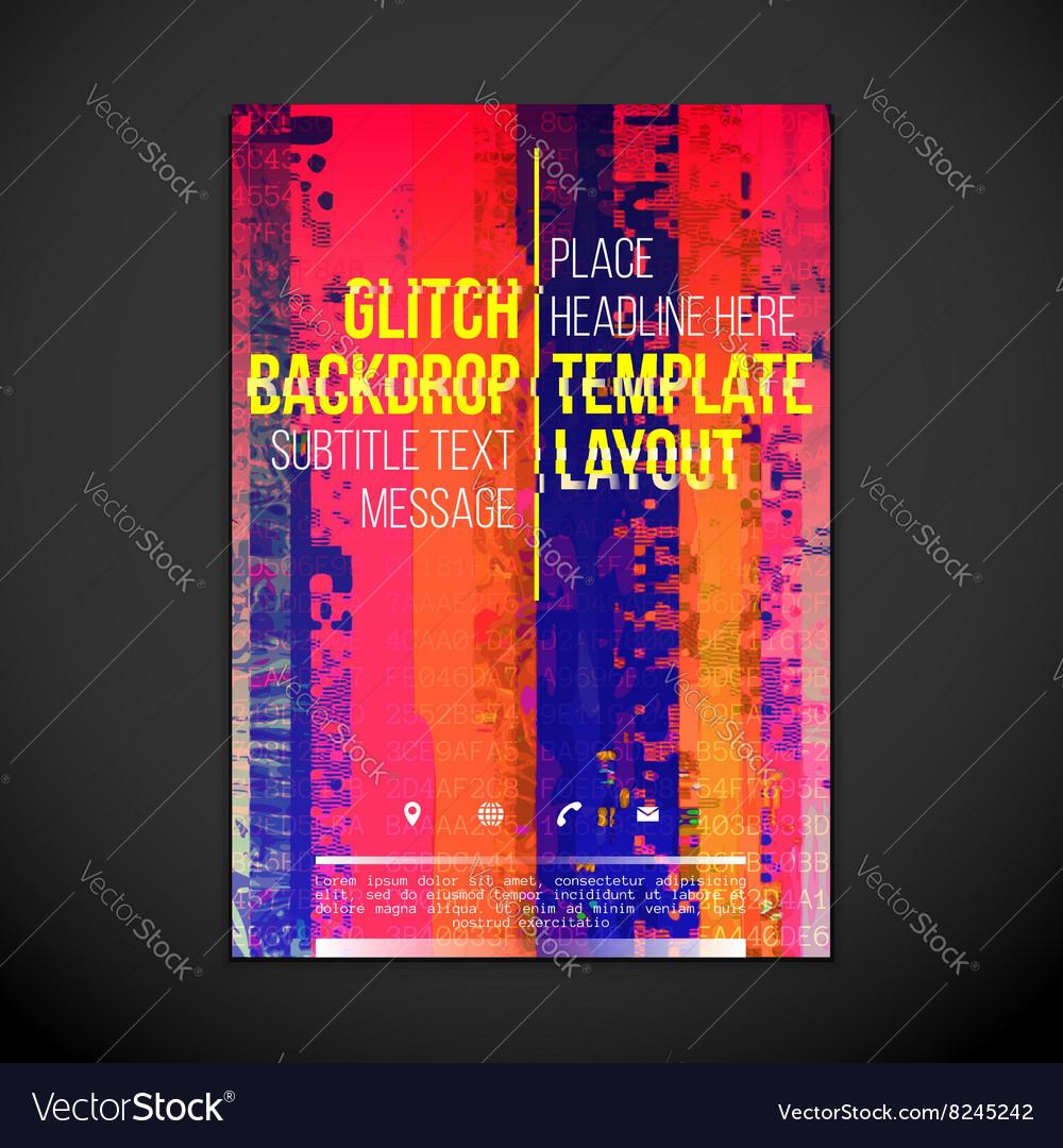 colored glitch design backdrop