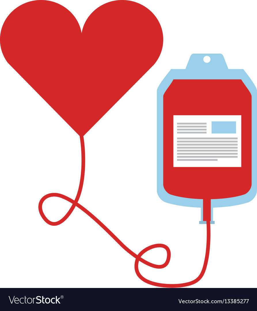 hight resolution of blood donation bag icon vector image