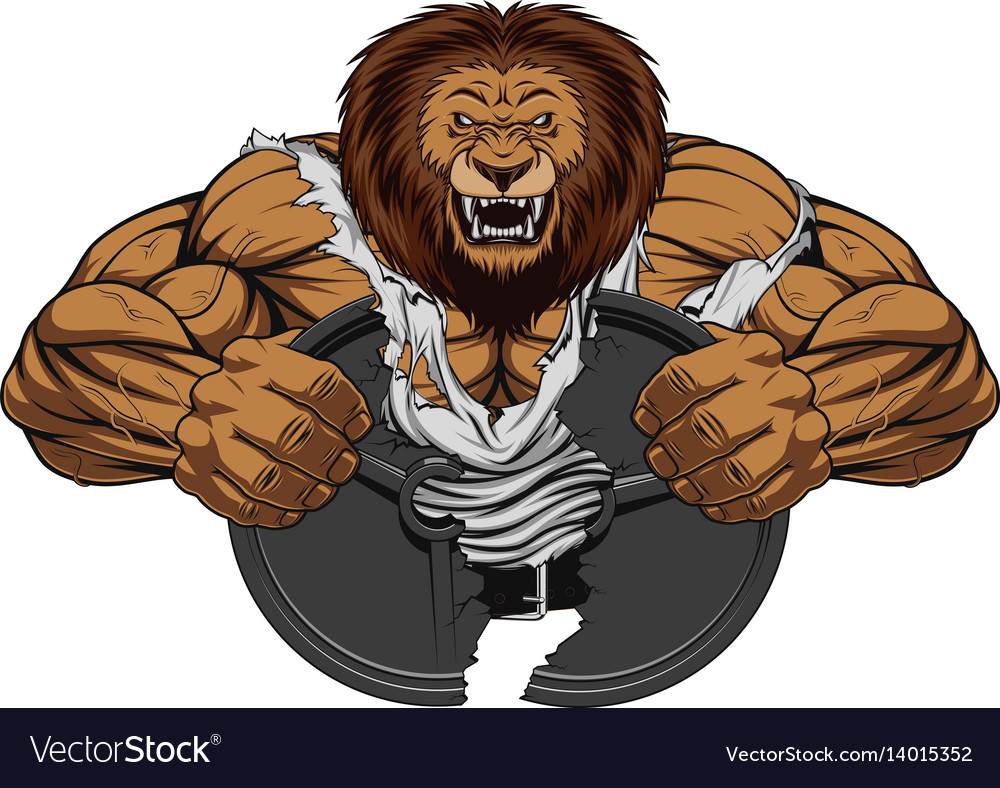 angry lion strong royalty