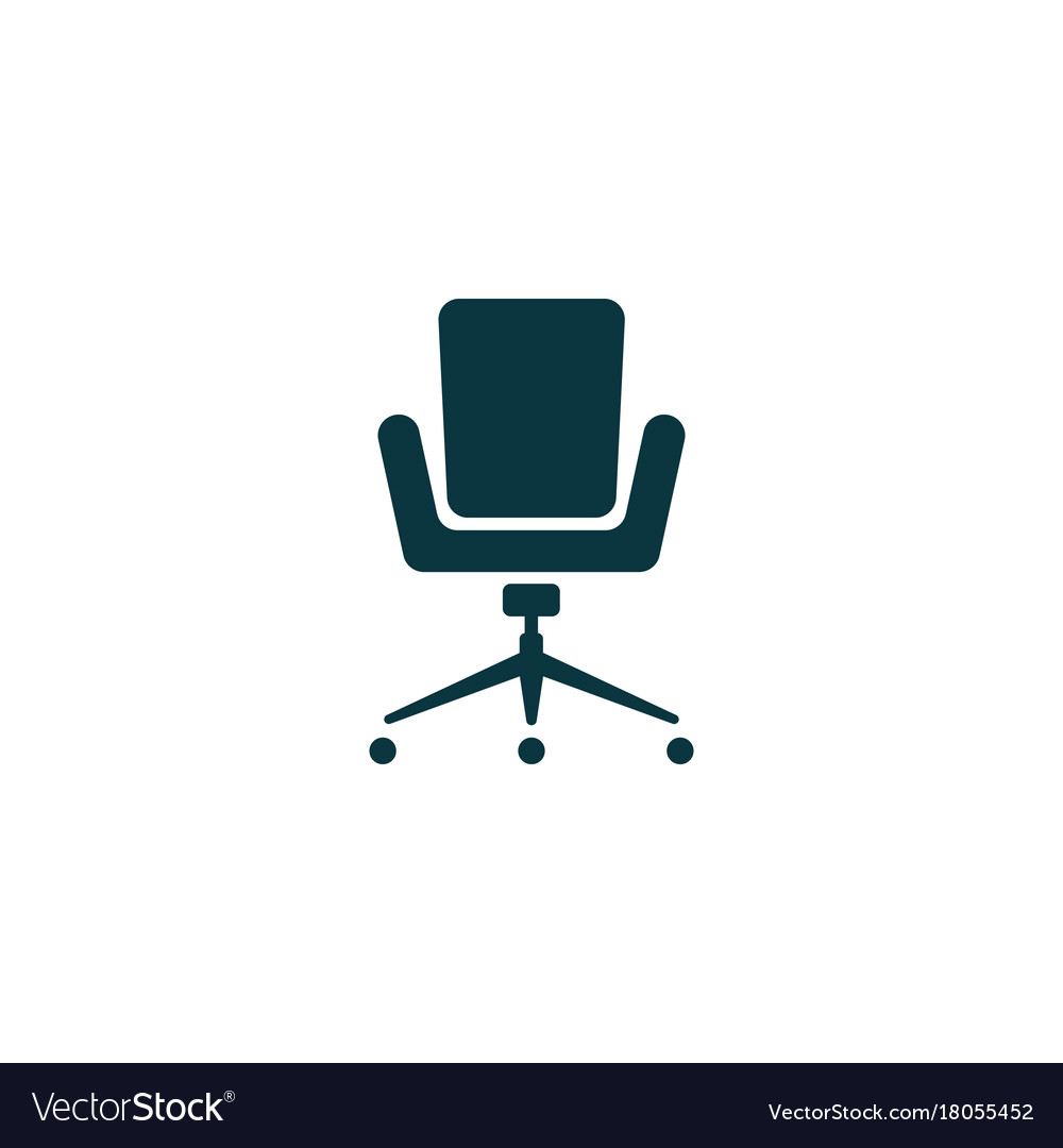 simple desk chair pink tufted office icon royalty free vector image