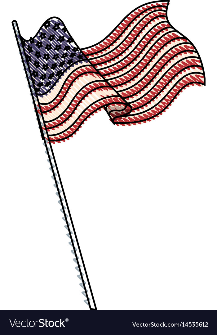 United States Drawing : united, states, drawing, Drawing, United, States, America, Vector, Image