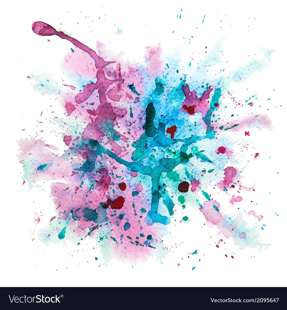 multicolor watercolor splash