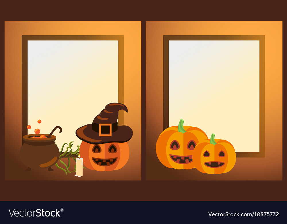 empty halloween photo frames