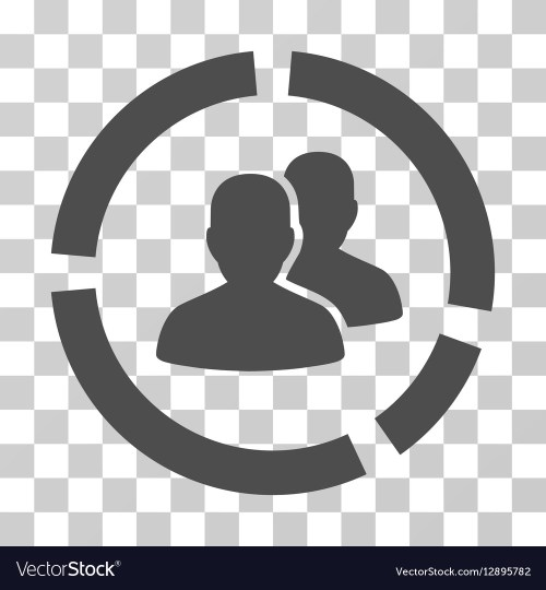 small resolution of demography diagram icon vector image