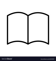 Book icon linear style on a transparent background