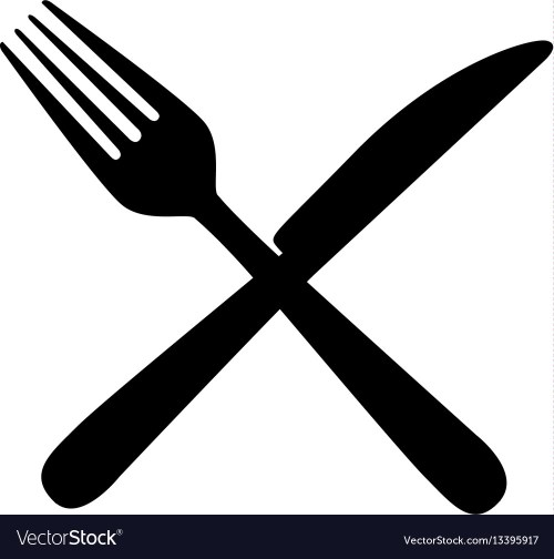 small resolution of sticker contour knife and fork icon vector image