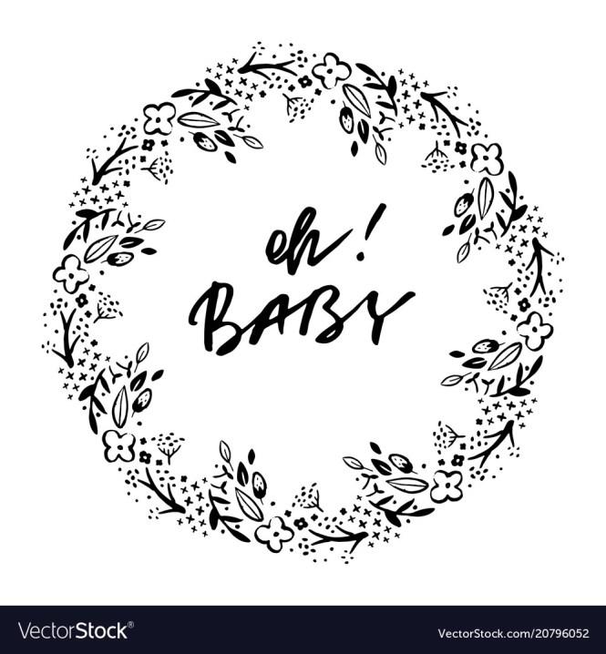 Phrase Baby Shower Invitation Card Ink