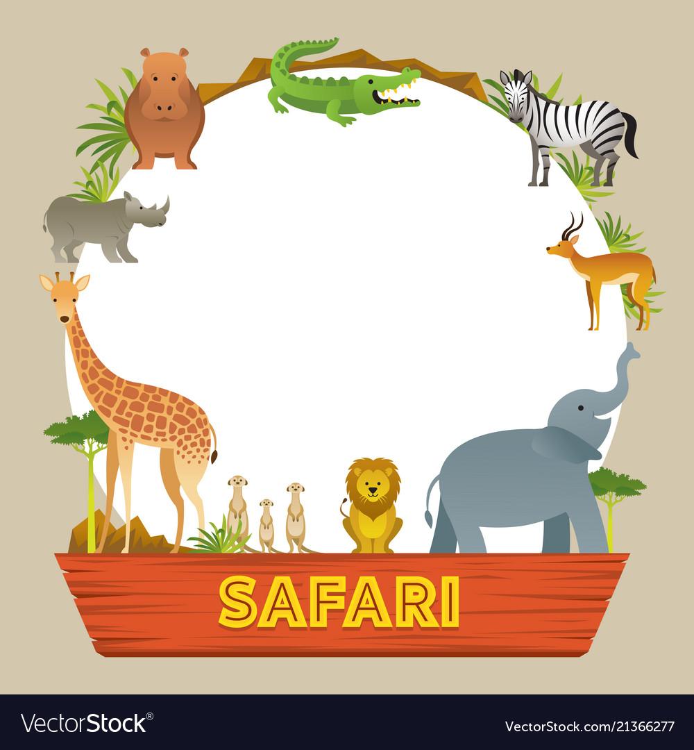 group of african safari