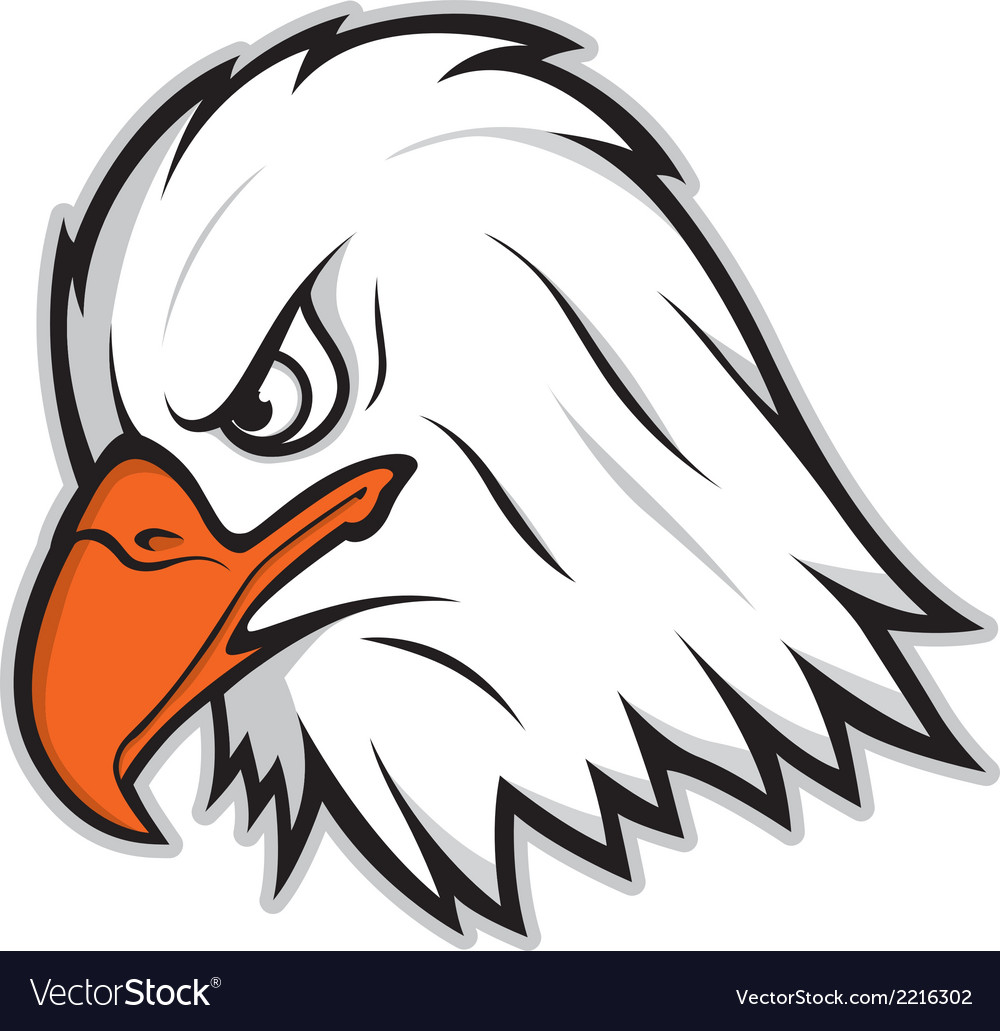 hight resolution of eagle mascot vector image