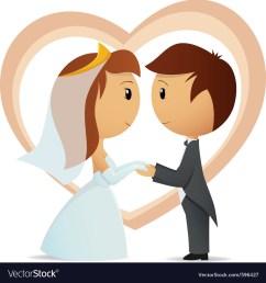 cartoon bride and groom vector image [ 1000 x 1071 Pixel ]