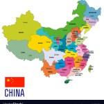 China Political Map Royalty Free Vector Image Vectorstock