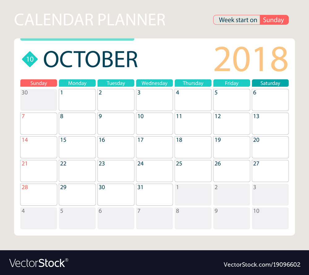 october 2018 calendar or