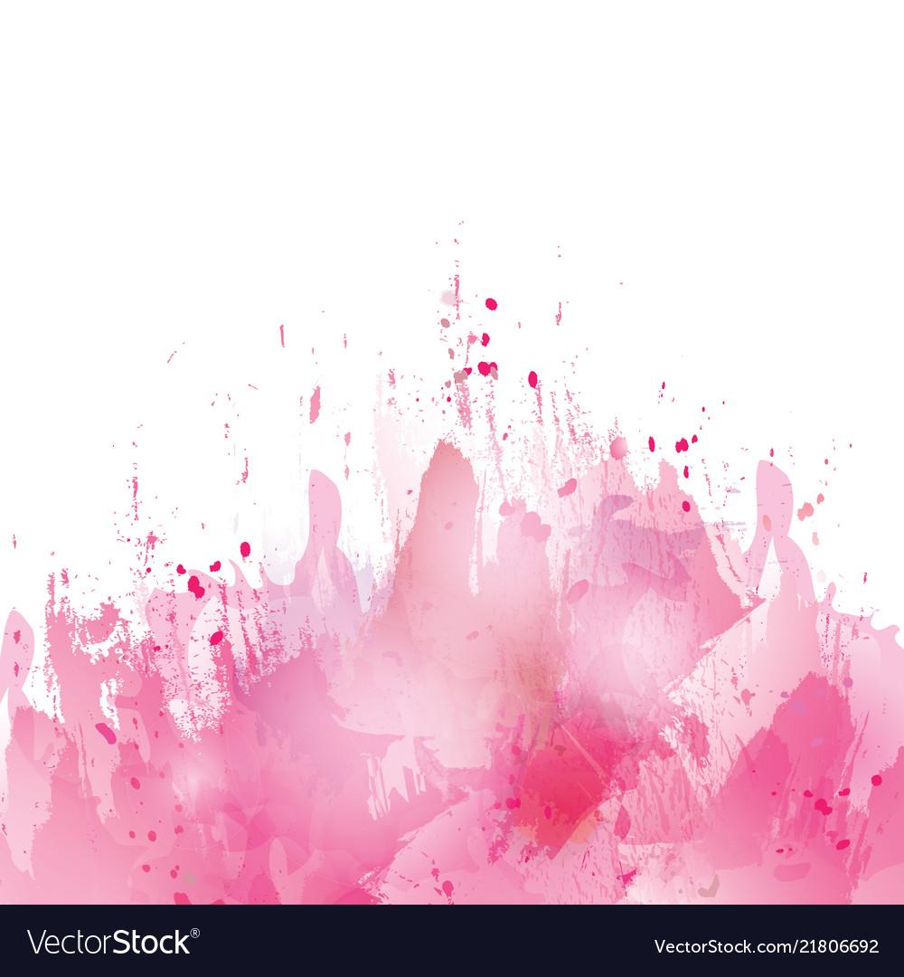 pink splash watercolor