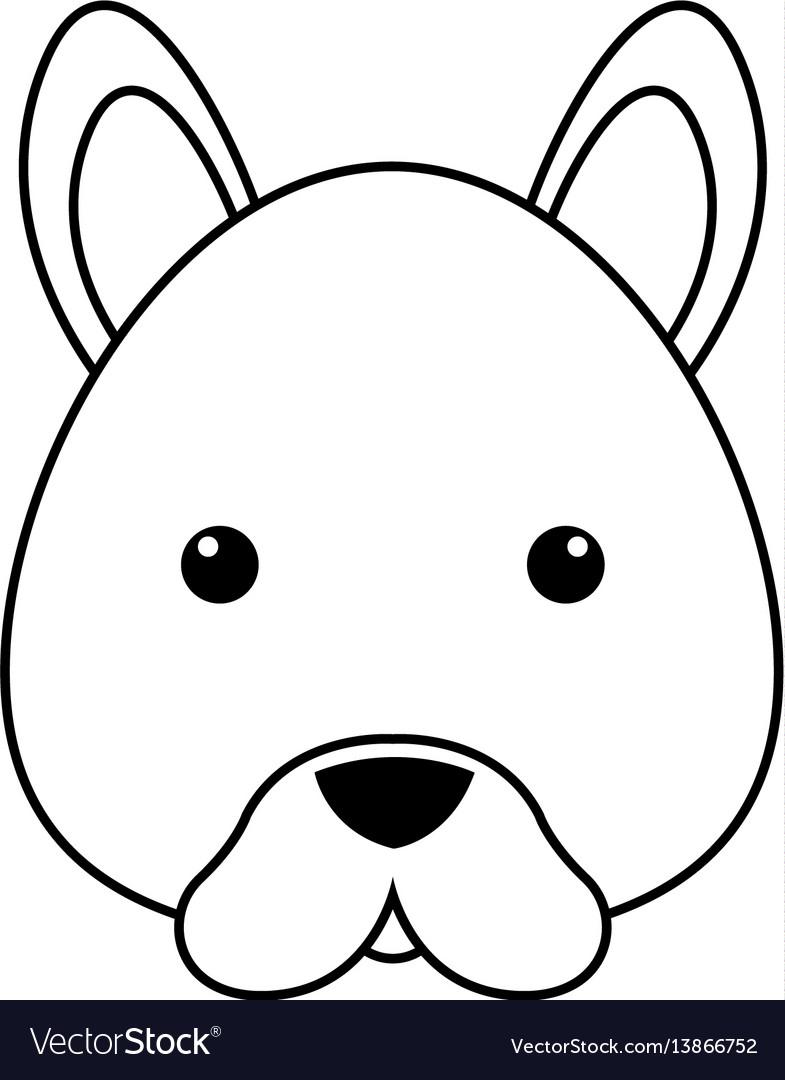Dog Face Drawing : drawing, Drawing, Royalty, Vector, Image, VectorStock