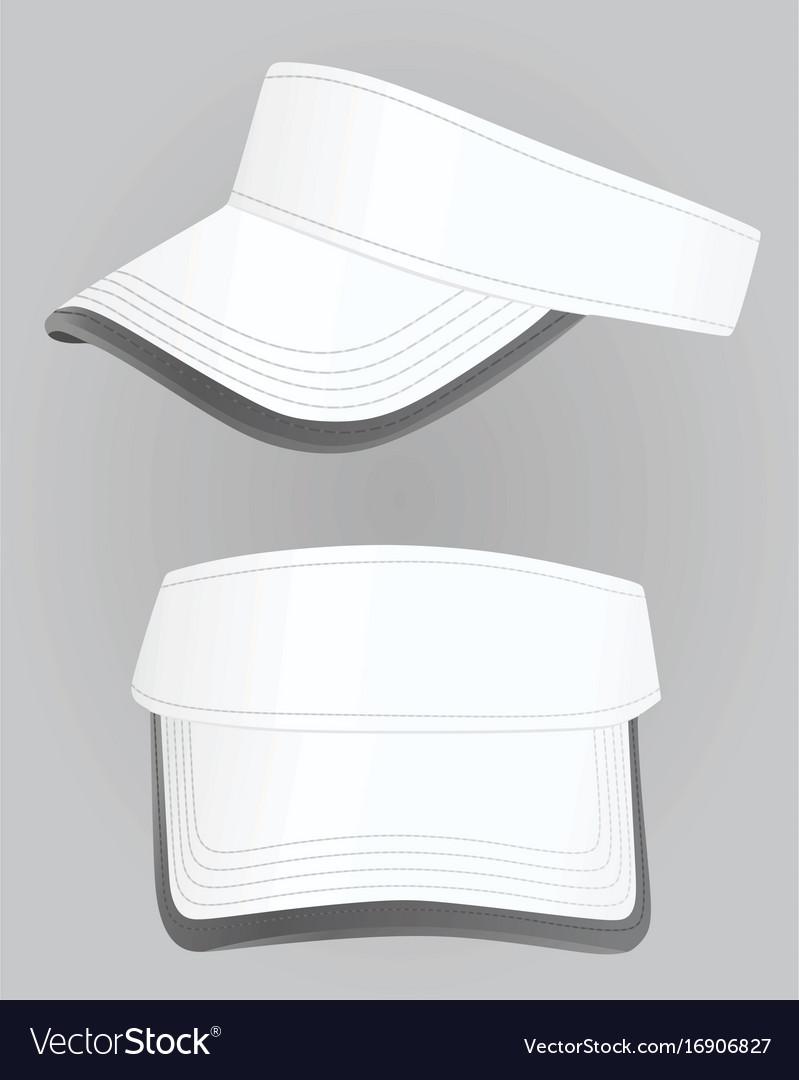 white visor cap