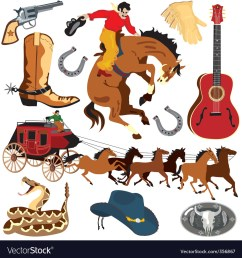 wild west clipart icons vector image [ 1000 x 1080 Pixel ]