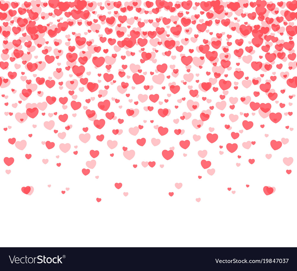 hearts confetti background royalty