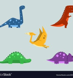 dinosaur clipart set for commercial use vector image [ 1000 x 880 Pixel ]