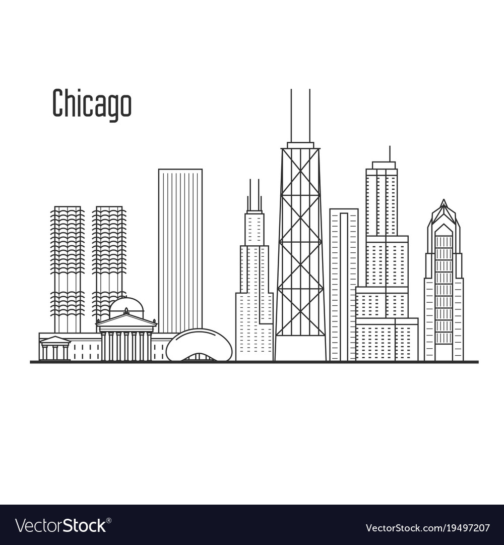 chicago skyline downtown cityscape