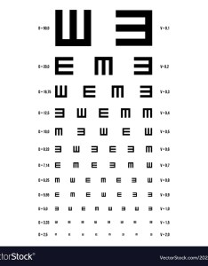 Eye test chart  vision exam vector image also royalty free rh vectorstock